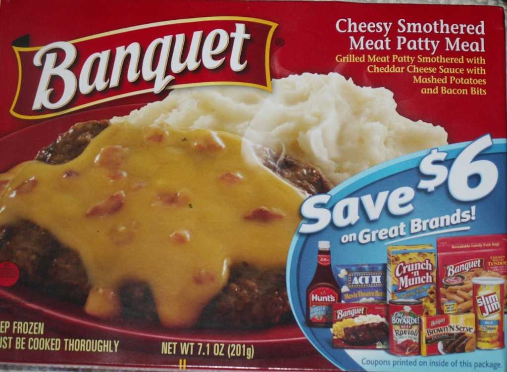 Banquet Cheesy Smothered Meat Patty Box