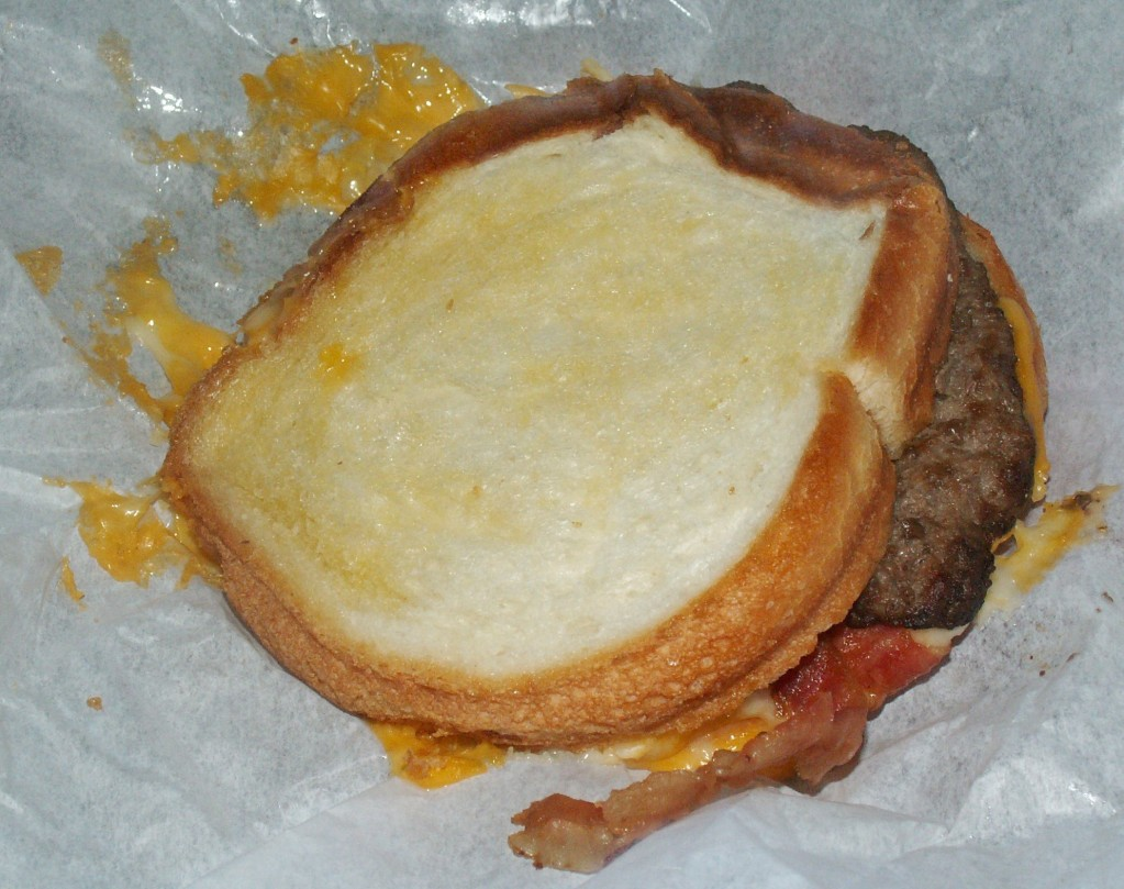 Carl's Jr. Grilled Cheese Bacon Burger Bacon