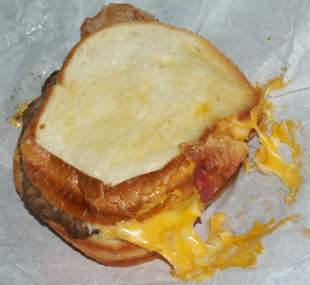 Carl's Jr. Grilled Cheese Bacon Burger Cheese