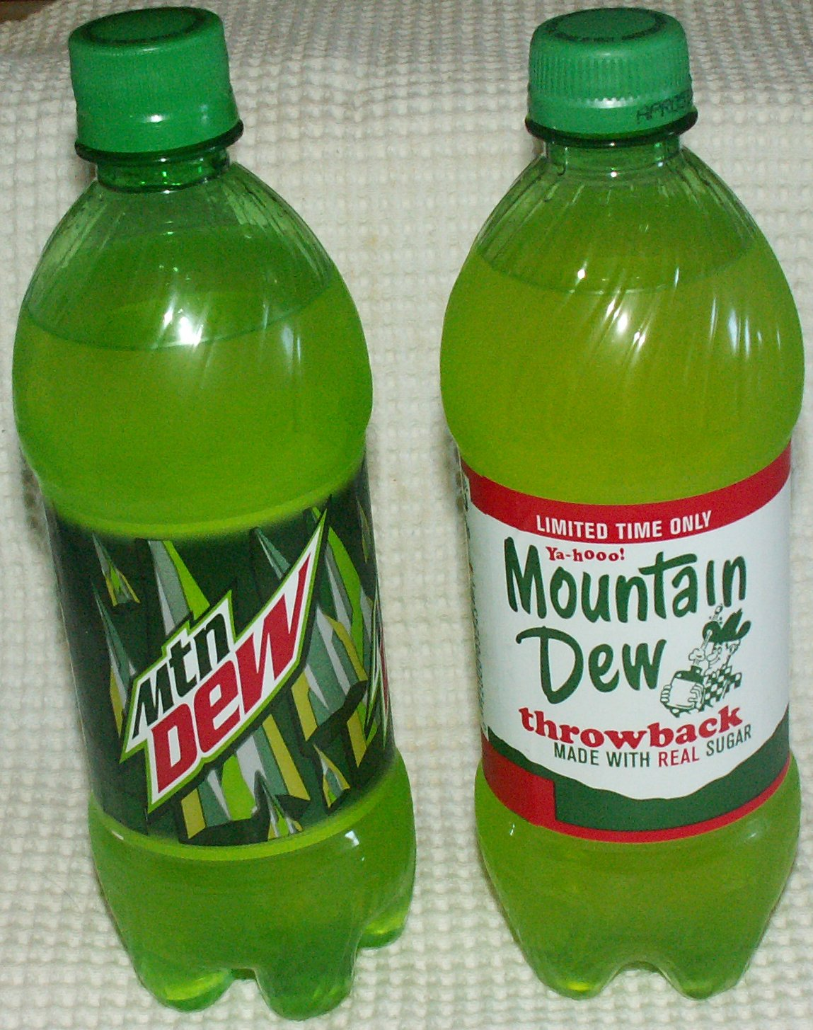 Mountain Dew Throwback Comparison