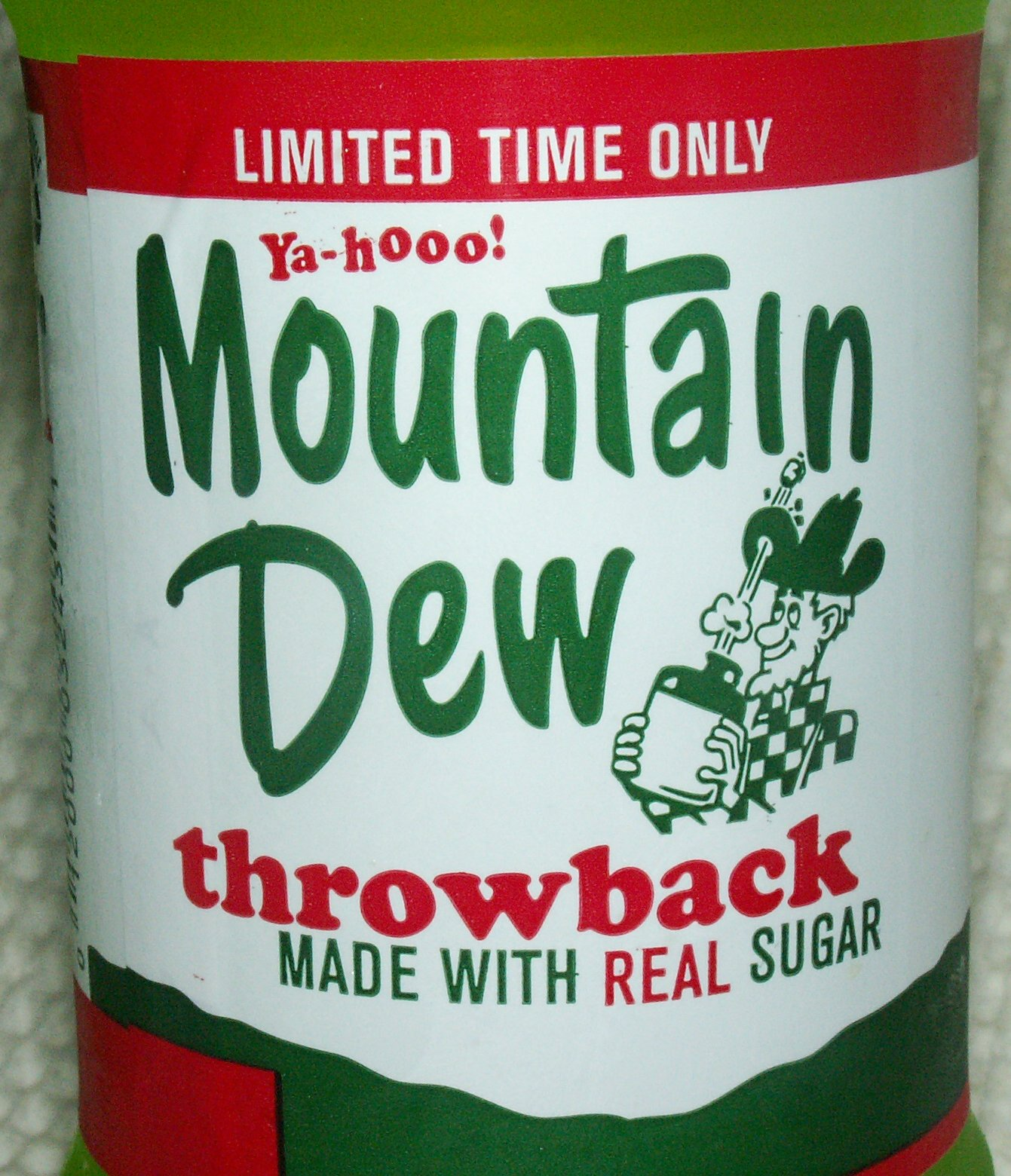 Mountain Dew Throwback Label
