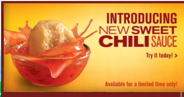 McDonald's Sweet Chili Sauce Introducing