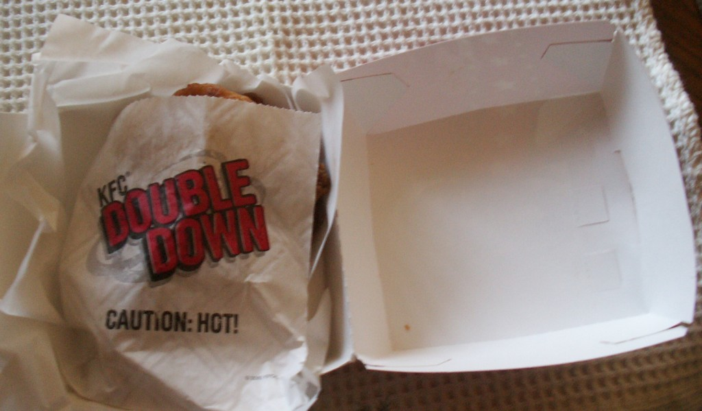 KFC Double Down Sandwich Boxed