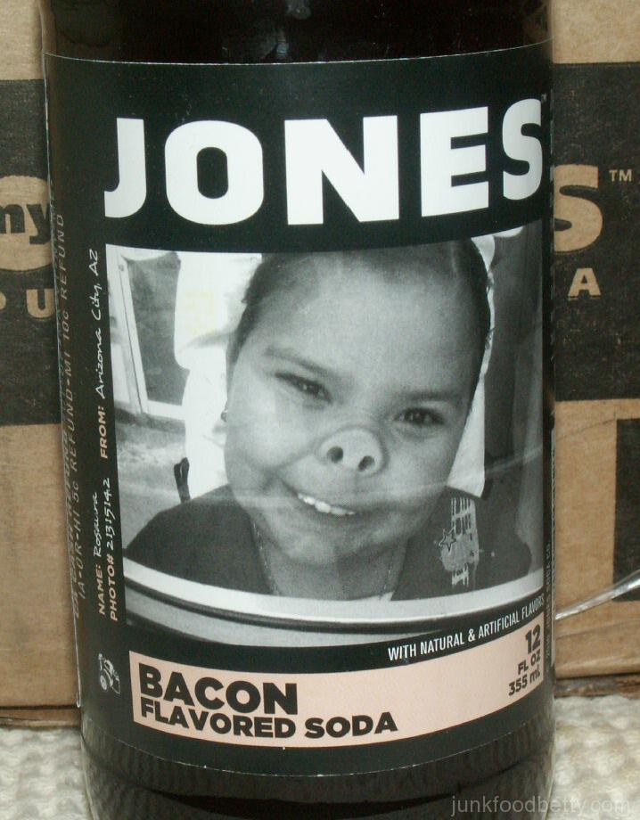 Jones Bacon Flavored Soda Label Pig Girl