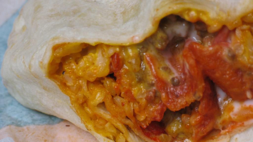 Taco Bell Beefy Crunch Burrito Close UpTaco Bell Beefy Crunch Burrito