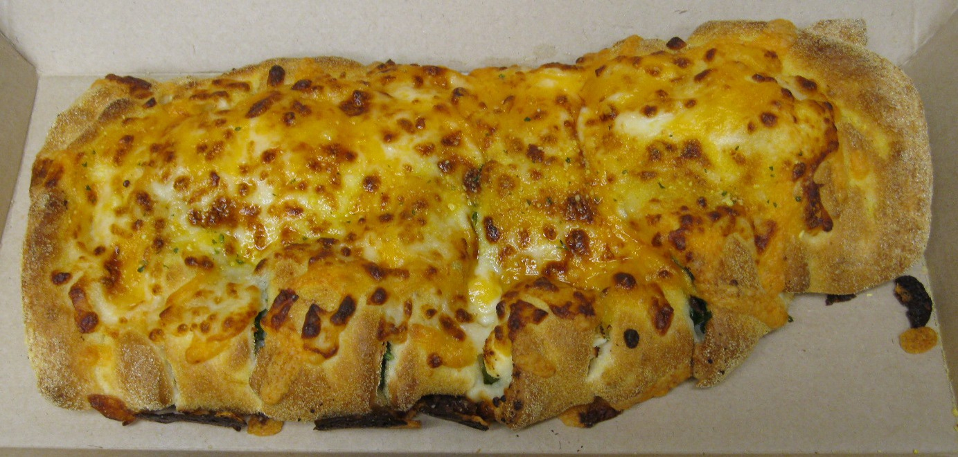 Domino's Stuffed Cheesy Bread Spinach & Feta and Bacon ...