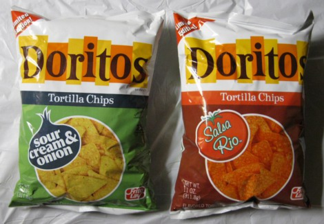 Limited Edition Doritos Sour Cream Onion And Salsa Rio Tortilla