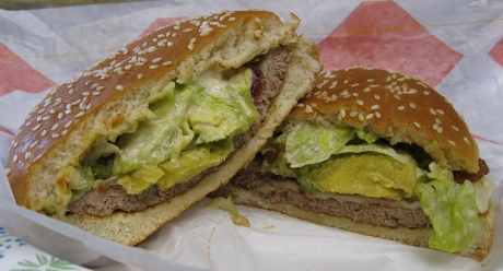 Burger King Avocado and Swiss Whopper Halves