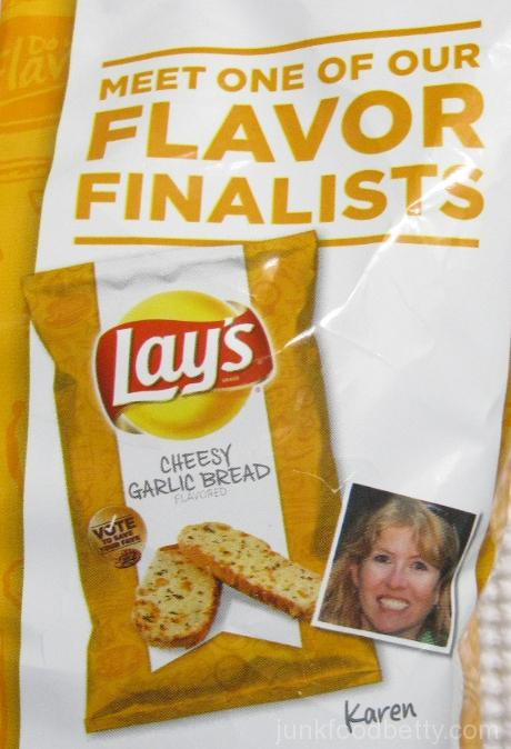 Lay's Do Us a Flavor Finalist Cheesy Garlic Bread Potato Chips Karen