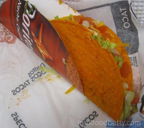 Taco Bell Nacho Cheese Doritos Locos Taco Supreme