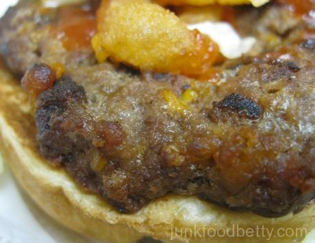 Burger King Spring Menu Bacon Cheddar Stuffed Burger Close-Up