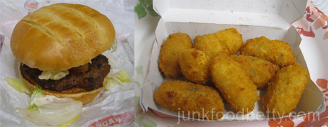 Burger King Spring Menu Bacon Cheddar Stuffed Burger and Loaded Tater Tots