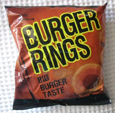 Australian Snaxplosion Burger Rings Bag