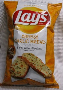 Lay's Do Us a Flavor Finalist Cheesy Garlic Bread Potato Chips Bag