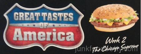McDonald's UK Tastes of America Logo and Chicago Supreme Logo Box