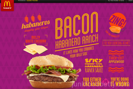 McDonald's Bacon Habanero Ranch Quarter Pounder Website