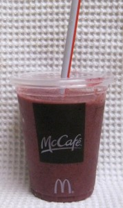 McDonald's McCafé Blueberry Pomegranate Smoothie Cup