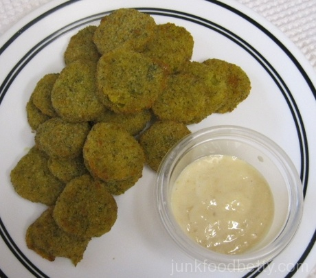 T.G.I. Friday's Dill Pickle Chips with a Zesty Horseradish Sauce
