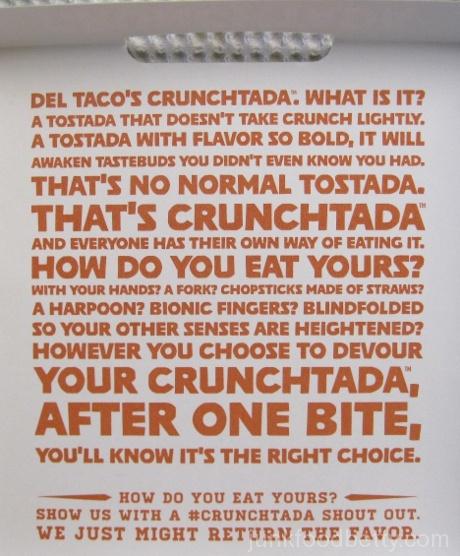 Del Taco CrunchTada Tostada Box Inside