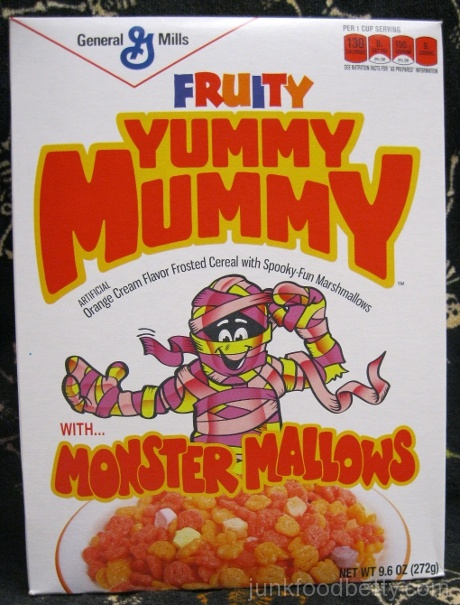 General Mills Fruity Yummy Mummy Cereal Box
