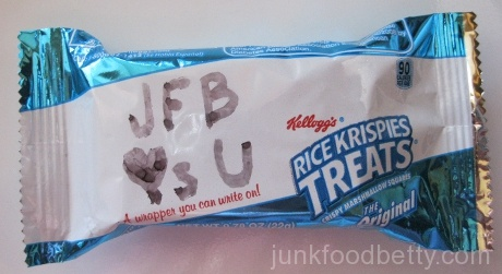 Kellogg's Rice Krispies Treats Marshmallow Square Package JFB