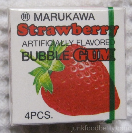Marukawa Strawberry Bubble Gum Package