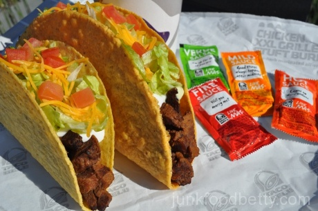 Taco Bell XXL Crispy Steak Taco, image courtesy Taco Bell