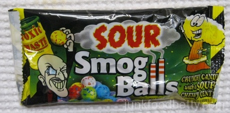 Toxic Waste Sour Smog Balls Package