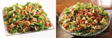 Wendy,s Asian Cashew Chicken Salad and BBQ Ranch Chicken Salad; Photos Courtesy Wendy's