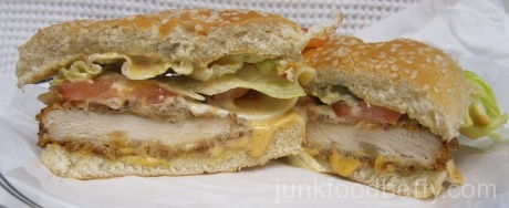 Jack in the Box Blazin' Chicken Sandwich Halves