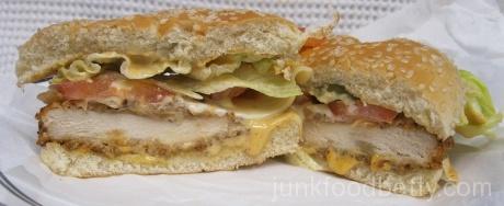 Jack in the Box Blazin' Chicken Sandwich Halves