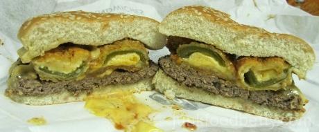 Jack in the Box Hella-Peno Burger Cut