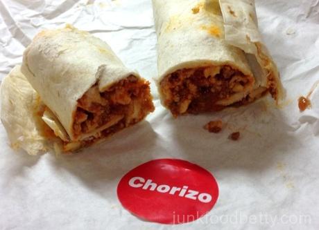 McDonald's Chorizo Burrito Halved