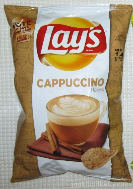 Lay's Do Us a Flavor Finalist Cappuccino  Potato Chips Bag