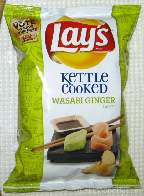 Lay's Do Us a Flavor Finalist Kettle Cooked Wasabi Ginger Potato Chips Bag