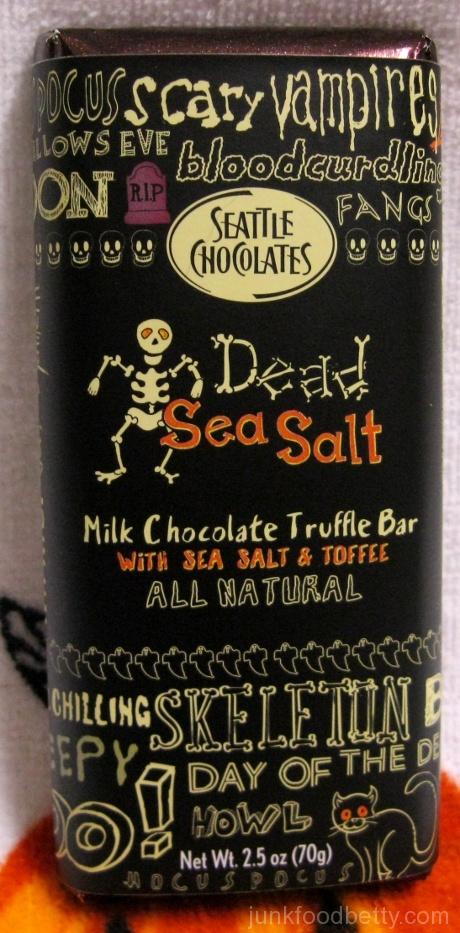 Seattle Chocolates Dead Sea Salt Milk Chocolate Truffle Bar with Sea Salt and Toffee Wrapper