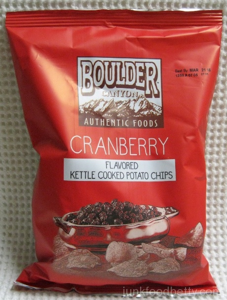 Boulder Canyon Thanksgiving Feast Kettle Cooked Potato Chips Cranberry Bag