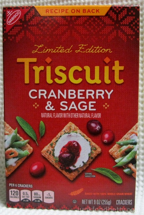 Limited Edition Triscuit Cranberry & Sage Crackers Box