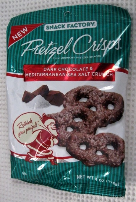 Snack Factory Pretzel Crisps Dark Chocolate and Mediterranean Sea Salt Crunch Bag