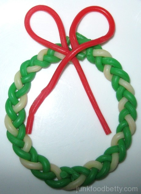 Twizzlers PULL 'n' PEEL cherry green apple lemonade Wreath