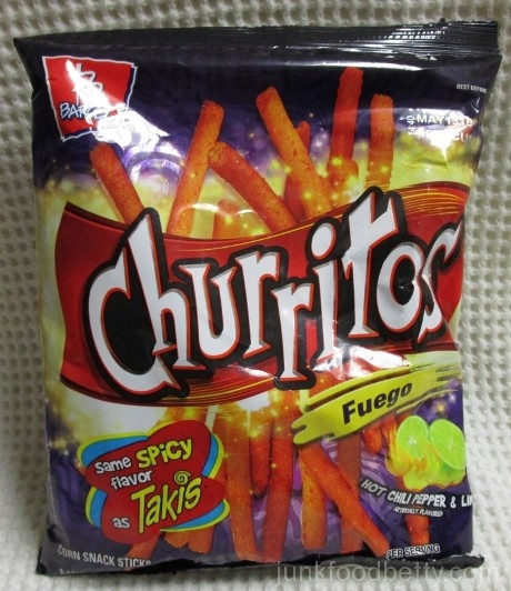 Churritos Fuego Hot Chili Pepper & Lime