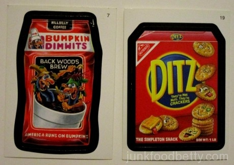 Wacky Packages Bumpkin Dimwits Ditz Stickers