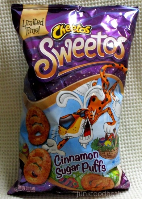 Cheetos Sweetos Cinnamon Sugar Puffs Bag