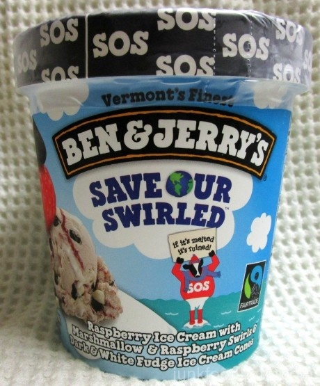 Ben & Jerry's Save Our Swirled Ice Cream Carton