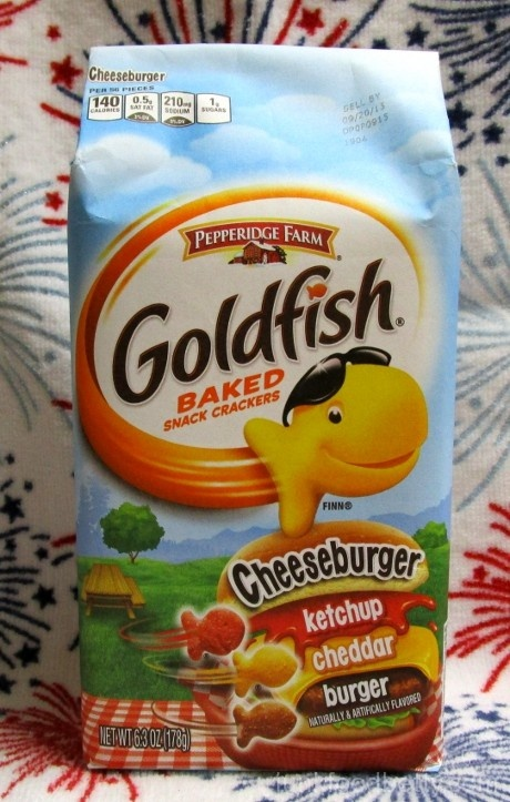 Pepperidge Farm Goldfish Cheeseburger Crackers Package