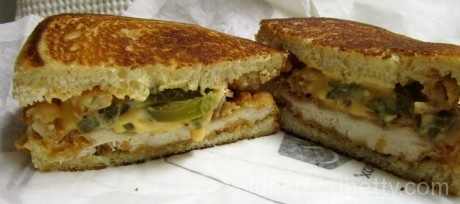 Jack in the Box Spicy Nacho Chicken Sandwich Halves