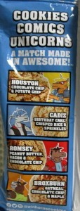 Einhorn's Epic Cookies Cadiz Birthday Cake, Crisped Rice & Sprinkles Package Back
