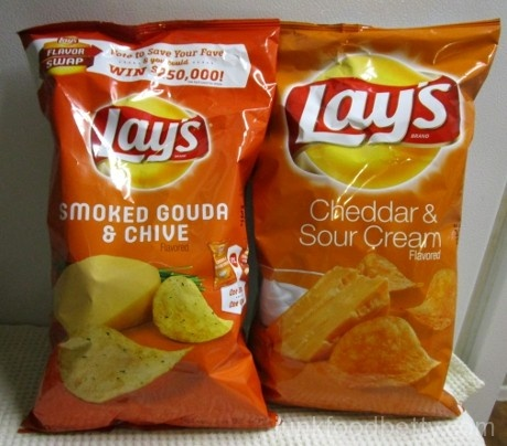 Lay's Flavor Swap Smoked Gouda & Chive and Cheddar & Sour Cream Packages