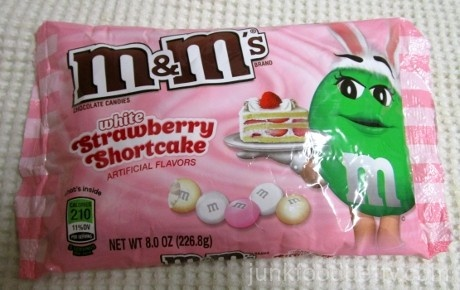 M&Ms White Strawberry Shortcake Package