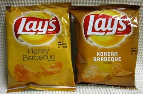 Lay's Flavor Swap Honey Barbecue vs. Korean Barbecue Bags
